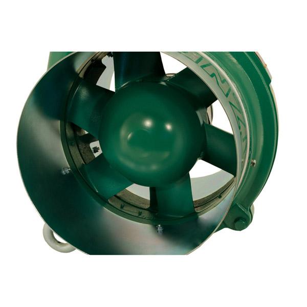Aspiratori ventilatori assiali pneumatici stazionari